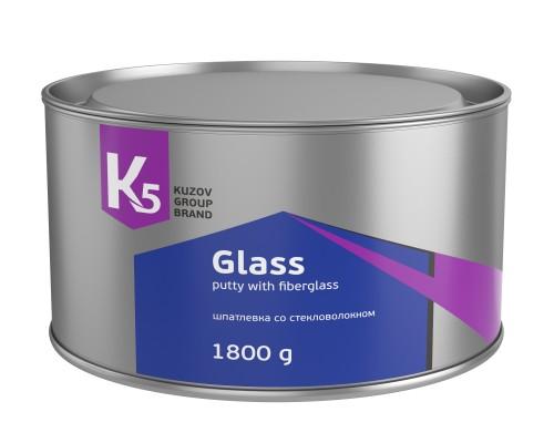 ШПАТЛЕВКА К5 GLASS СО СТЕКЛОВОЛОКНОМ 1800 ГР