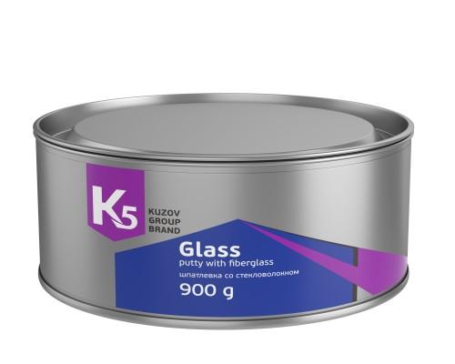 ШПАТЛЕВКА К5 GLASS СО СТЕКЛОВОЛОКНОМ 900 ГР
