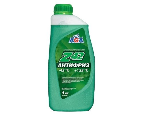 АНТИФРИЗ AGA (-42°С) (1 КГ) ЗЕЛЕНЫЙ