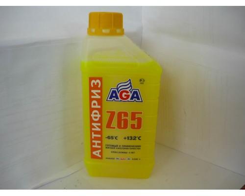 АНТИФРИЗ AGA (-65°С) (1 КГ) ЖЕЛТЫЙ