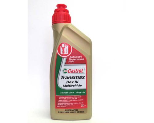 """МАСЛО ТРАНСМИССИОННОЕ """"CASTROL"""" TRANSMAX DEX-III MUITIVEHICLE (1 Л) П/СИНТ."""