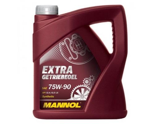 """МАСЛО ТРАНСМИССИОННОЕ """"MANNOL"""" 8103 EXTRA GETRIEBEOEL 75W90 (4 Л) СИНТ. (GL-4/GL"""